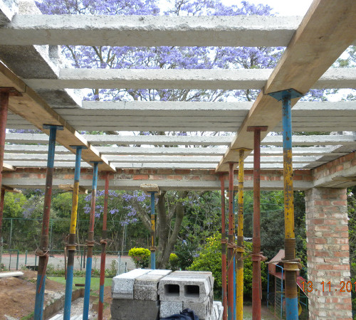 New patio receiving block and lintel
